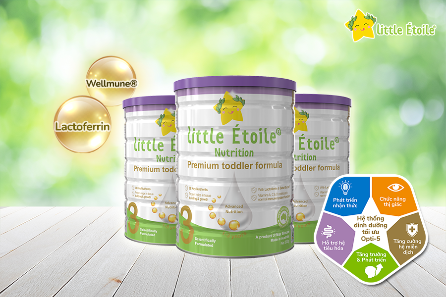 Sữa ngôi sao nhỏ Little Étoile số 3 bổ sung Lactoferrin và Wellmune® Beta-Glucan