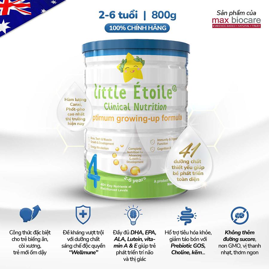Sữa Dinh dưỡng Ngôi Sao Nhỏ Little Étoile Clinical Nutrition Số 4